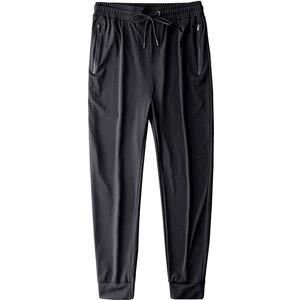 Мужские повседневные дышащие брюки, легкие быстросохнущие брюки, черные брюки-карандаш, лето 2020