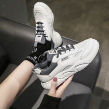 Women Sneakers Leather Shoes Spring Trend Casual Flats Sneakers Female New Fashion Comfort White Vulcanized Platform Shoes women sneakers leather shoes spring trend casual flats sneakers female new fashion comfort cute heart vulcanized platform shoes
