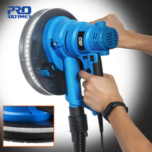 750W Drywall Sander 230V Wall Polishing Machine Grinding Portable Led Light 610-2150/min Wall Putty Polisher Machine PROSTORMER