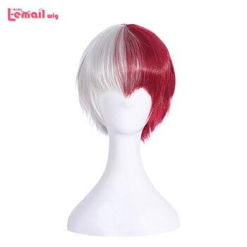 L-email wig New Men My Hero Academia Cosplay Wigs Izuku Midoriya and Shouto Todoroki Short Synthetic Hair Perucas Wig - discount item  30% OFF Synthetic Hair