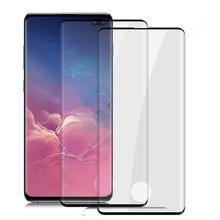 Lote de 10 unidades de protectores de pantalla completa de cristal templado para Samsung galaxy S20 PLUS, S10, NOTE 8, 9 y S20, película de desbloqueo por huella dactilar