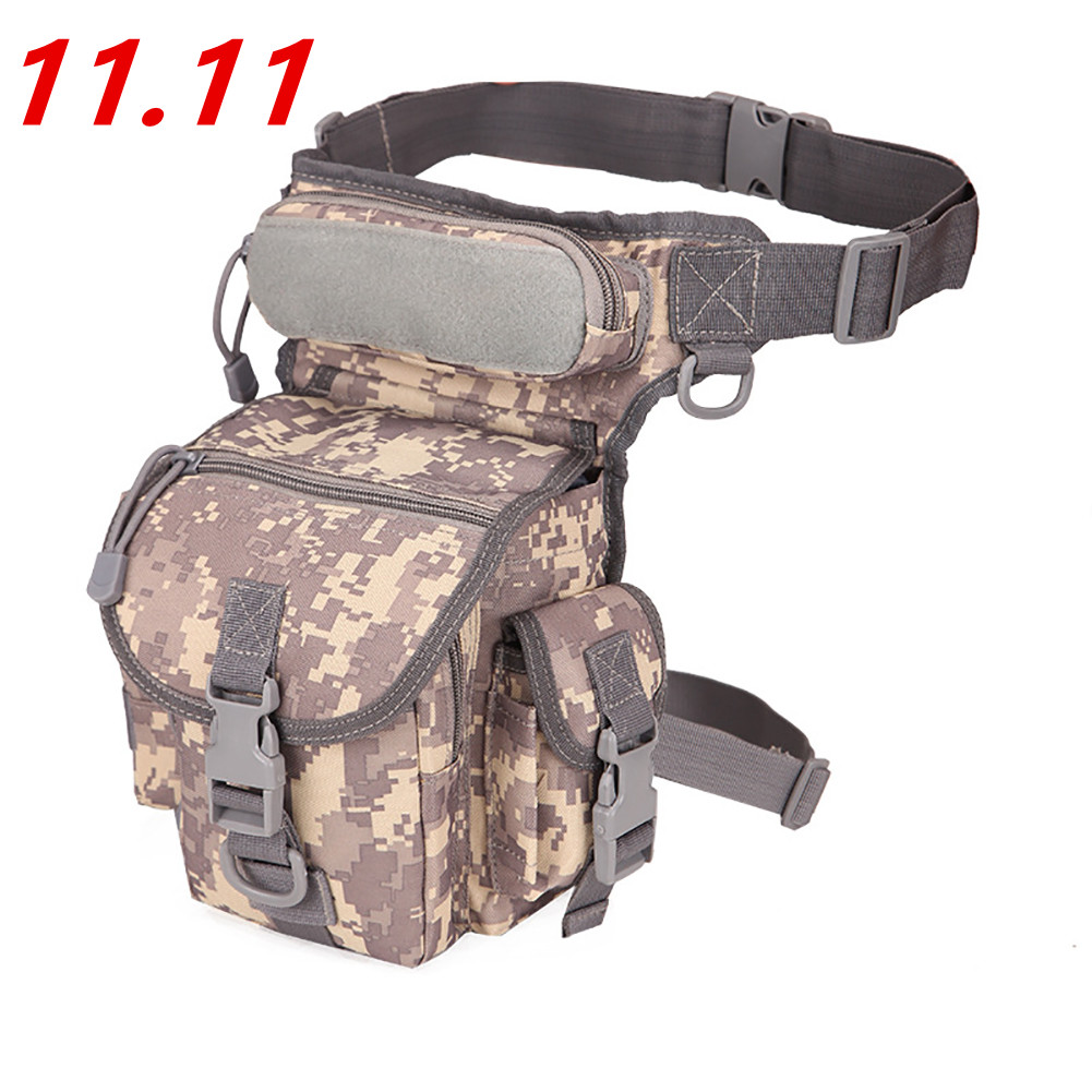 Men's Military Camouflage Drop Leg Bag Panel Utility Waist Belt Pouch Pack Shoulder Bags Oxford Fanny Packs Men Belt Hip Bum Bag