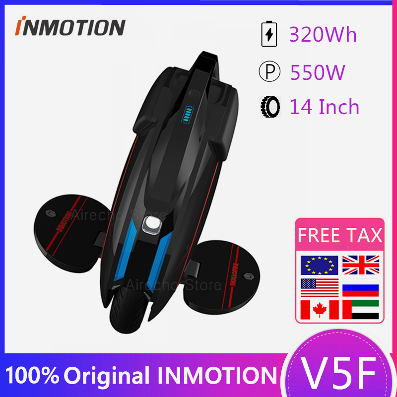 Original INMOTION V5F Electric Scooter Unicycle Self balancing  EUC With Decorative Lamps One Wheel Monowheel Hover Skate Board