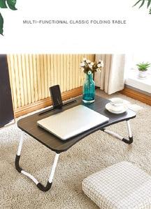 Image 5 - Escritorio para ordenador portátil, cama multifunción, mesa pequeña plegable, para dormitorio, estudio, para el hogar