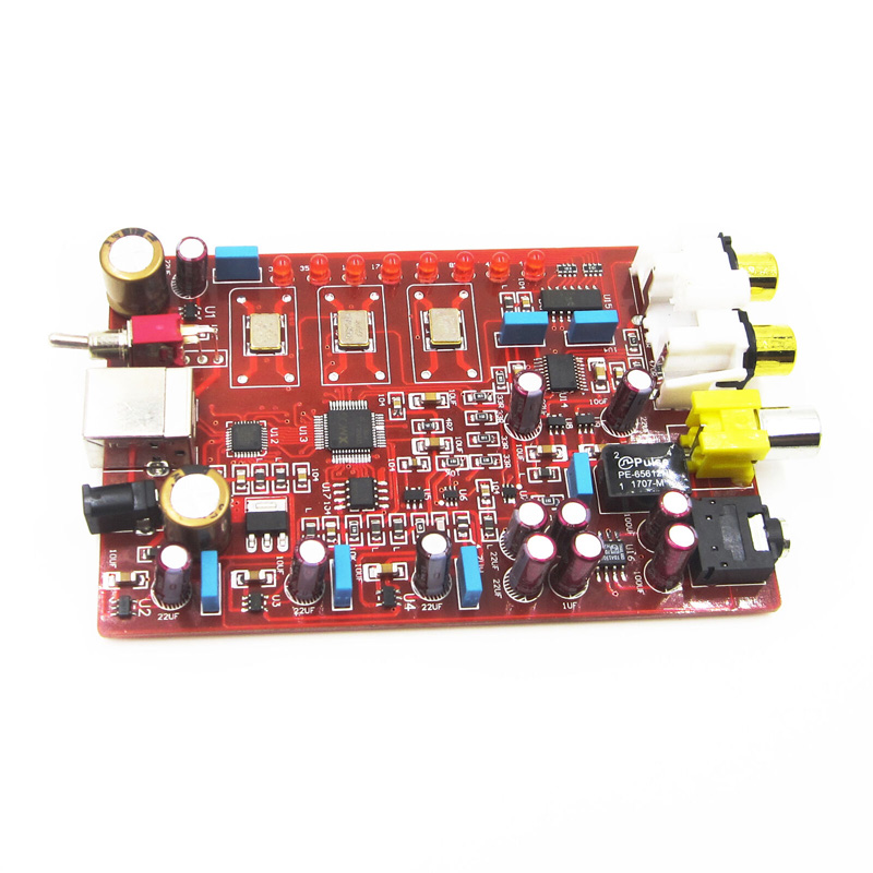 Original XMOS+ PCM5102 + TDA1308 USB Decoder Board USB DAC 384KHZ/32bit -R179 Drop Shipping