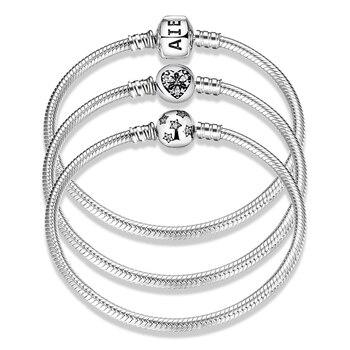 Snake Chain 925 Sterling Silver Bracelet