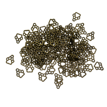 100x Antique Bronze Cat Paw Shape Charms Pendants Jewelry Making Accessories