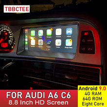Android 9.0 4+64G Car Multimedia player For Audi A6 C6 4F 2005 2006 2007 2008 2009 2010 2011 MMI 2G 3G for Carplay Android Auto