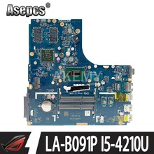 Для For Lenovo Ideapad B50-70 материнская плата для ноутбука ZIWB2/ZIWB3/ZIWE1 LA-B091P SR1EF I5-4210U 2 Гб протестирована