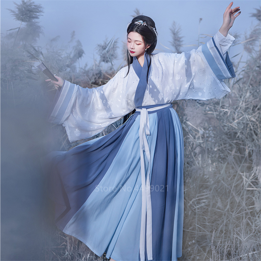 Hanfu Dress Traditional Chinese Clothing for Women Tang Princess Ancient Dynasty Fairy Cosplay Folk Dance Vintage Fancy Party