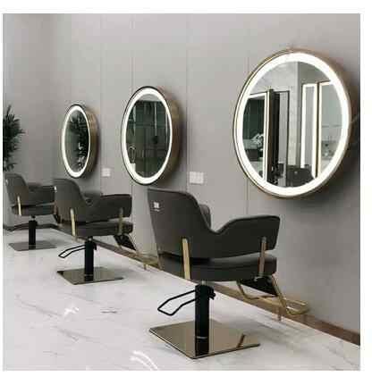 Miroir De Studio De Maquillage Avec Lampe Miroir Special De Salon De Coiffure Lampe A Un Cote Double Face Miroir Rond Aliexpress