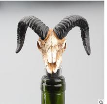 Antelope horn Skull Wine Stopper Creative home decoration wine bottle Animal Sculpture statue Buffalo skull stopper wholesale 200ml hot sale creative home decoration 3d resin skull shape stainless steel wine goblet