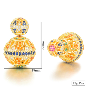 Image 5 - GODKI Luxury Vintage Hollow Ball For Women Wedding Party Cubic Zirconia Earring High Jewelry Addiction