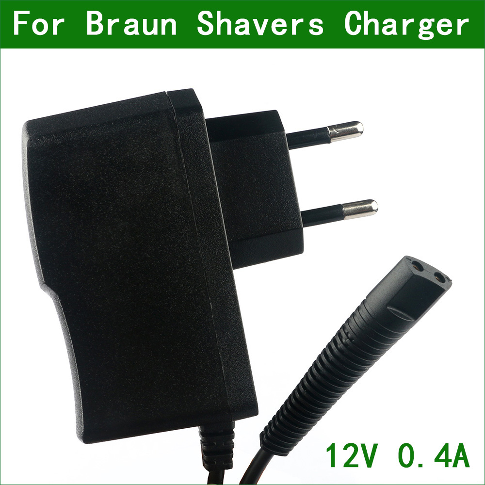 12V 0.4A 2-зубец ЕС настенная розетка переменного тока Мощность адаптер Зарядное устройство для зубных щеток Braun бритвы 5415 5416 5497 5610 5611 5612 5613 5614 5663...