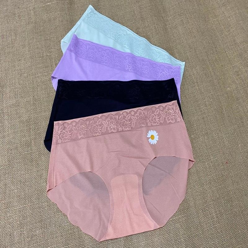 Seamless Panties Women Briefs Nylon Ultra-thin G-string Thongs Low Rise Lingerie Ice Silk Briefs Lady Underwear Plus Size