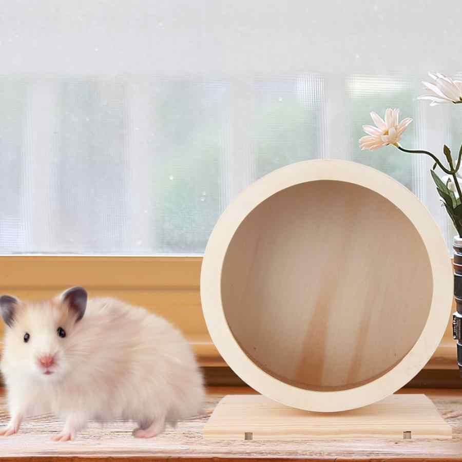 Staffa di legno Silenzioso Pet Esercizio Corsa e Jogging Ruota Giocattolo per il Criceto Guinea Pig Hedgehog Cincillà Animali Giocattolo Accessori