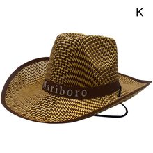 Hoge Top zomer hoed Mannen \'s Strand strooien hoed Grote Strohoed Zomer sombrero Vizier Western Cowboy Hoed AHPU(China)