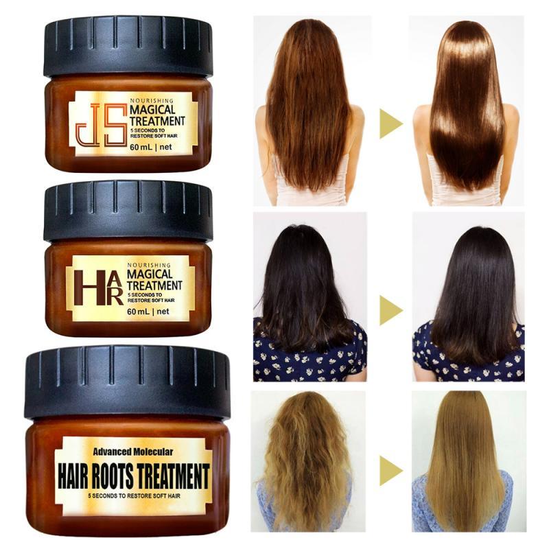 60 мл Мягкий Кондиционер для волос маска для лечения волос Волшебный кератин восстановление 5 секунд Уход за волосами шампунь