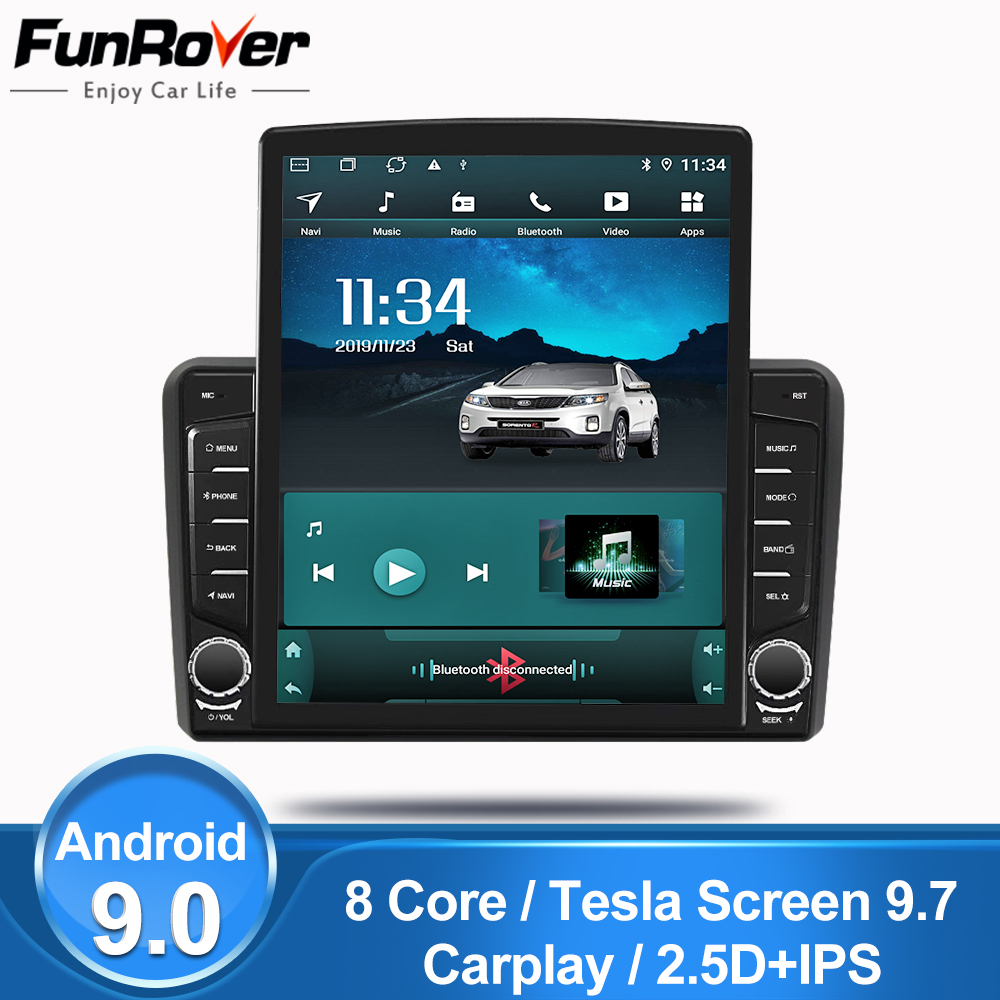 "Funrover 9.7 ""Tesla IPS android 9.0 autoradio lecteur multimédia pour Audi A3 8P 2003-2012 S3 2006-2012 RS3 Sportback 2011 gps dvd"