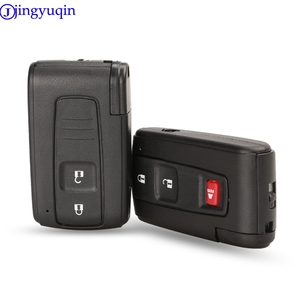 Image 1 - Jingyuqin capa para chave de carro, boa qualidade, 2/3 botões, controle remoto, inteligente, para toyota prius corolla, versão toy43, lâmina sem cortes