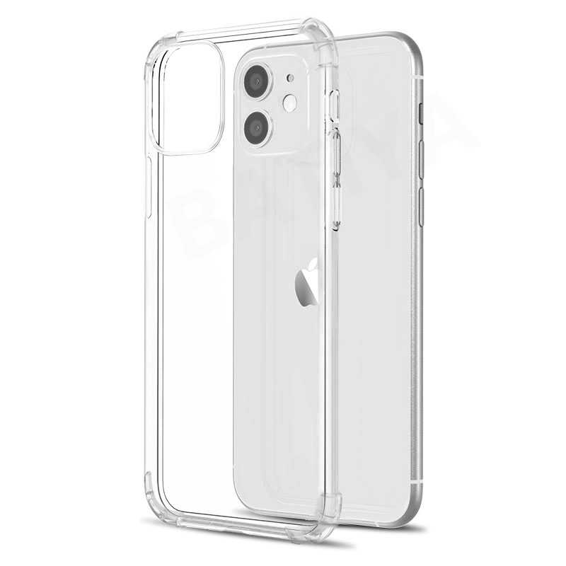 Cao Cấp Chống Sốc Dẻo Silicone Ốp Lưng Điện Thoại Iphone 11 Pro X XR XS Max 6 6 S 7 8 Plus SE 2020 Ốp Lưng Trong Suốt Bảo Vệ Mặt Sau