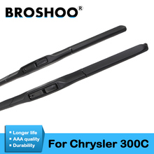BROSHOO Auto Car Windshield Wiper Blade Natural Rubber 22&22 For Chrysler 300C 2004 2005 2006 2007 2008 2009 2010 Fit Hook Arm sliverysea rear wiper blade no arm for honda stream mk 1 2000 2006 12 5 door mpv high quality iso9001 natural rubber b1 30