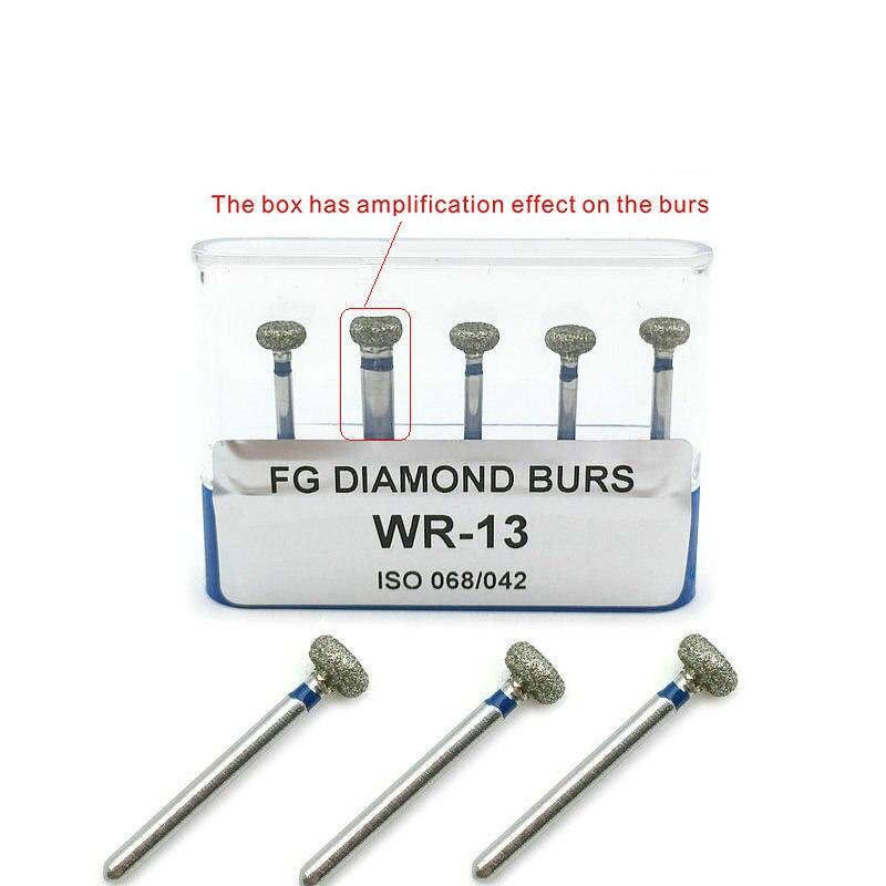 5pcs/pack Dental High Speed Diamond Burs Dentist Medium Diamond Dental Lab Tools WR-13