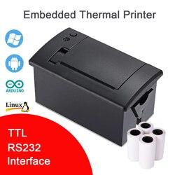 QR701 TTL RS232 Máy In Nhúng POS Máy In Hóa Đơn 58 Mm ATM Nhiệt Vé Micro Bảng Điều Khiển USB Arduino Linux Kỹ Sư Mã Hóa