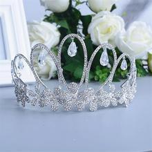 Kryształ Diadem biżuteria akcesoria do włosów Diadem Mariage Bijoux De Tete Cheveux Corona Casamento WIGO0719