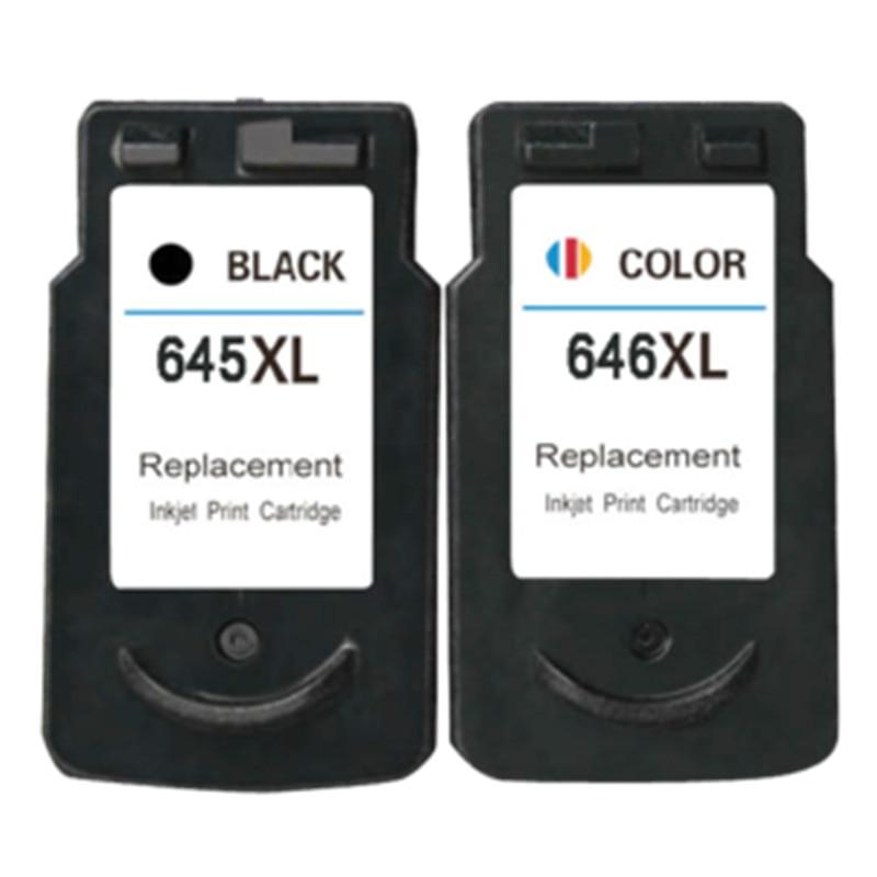 PG645 645XL CL 646 XL թանաքային քարթրիջներ փոխարինելու համար Canon Pixma MG2460 MG2560 MG2580 MG2400 MG2500 Տպիչ Inkjet Ամբողջական լրացնելով Ink
