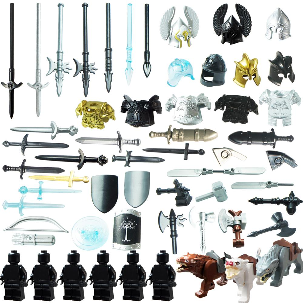 Legoing  Mediaeval Times  Weapons For 4cm Mini Dolls Military Minifigures MOC Building Blocks Brick Toys For Children