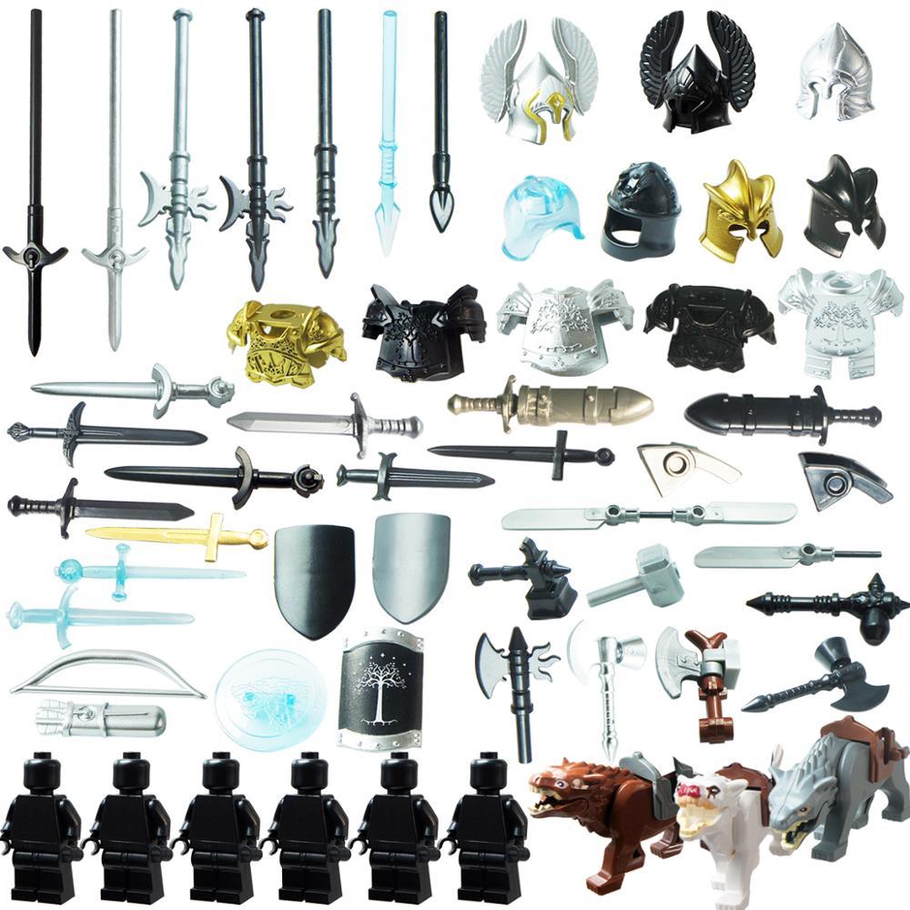 Mediaeval Times  Weapons For 4cm Mini Dolls Military  Figures MOC Building Blocks Brick Toys For Children