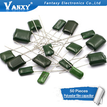 50pcs polyester film capacitor…