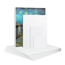 Panneau de toile d'artiste en coton vierge, 6 pièces, planches d'amorçage, cadre de peinture artistique pour huile acrylique 20x25 25x25 25x30cm 10x10cm