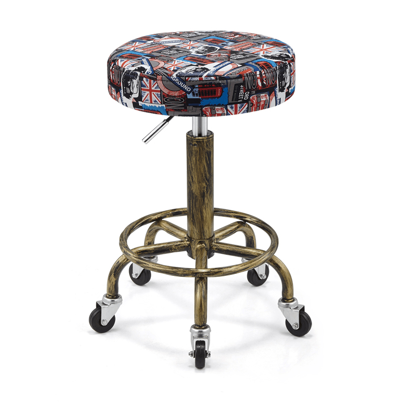 Rotating Lifting Beauty Chair Nail Stool Stool Barber Chair Explosion-proof Work Bench Hair Salon Turn Stool Round Master Chair