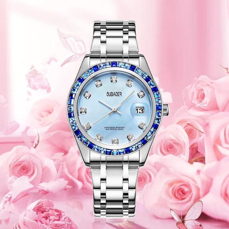 Luxury, Waterproof, Watches, Silver, Gold, Ladies