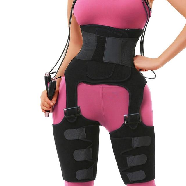 Hot Sauna Waist Trainer Belt Double Compression Body Shaper Sweat Neoprene Tummy Control Thigh Trimmer for Lose Weight Corset 1