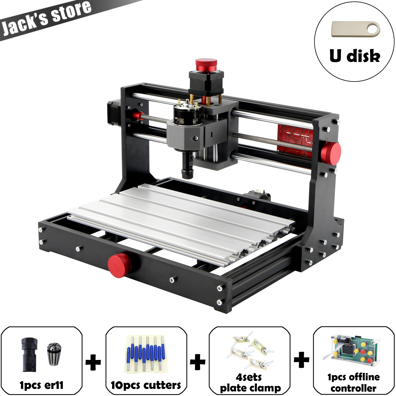 Mostics, CNC 3018 PRO ER11 laser engraver Pcb Milling Machine cnc router cnc3018pro engraving machine GRBL mini engraver