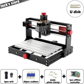 цена на Mostics, CNC 3018 PRO ER11 laser engraver Pcb Milling Machine cnc router cnc3018pro engraving machine GRBL mini engraver
