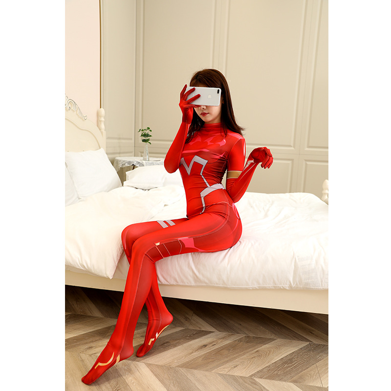 Overwatch AOV Eva Asuka Ayanami Rei Kiana Anime Cosplay Costumes Sexy Tights Jumpsuit Halloween Costumes For Women Spandex 3