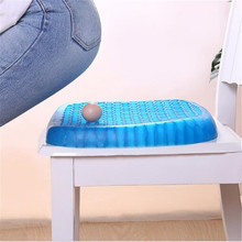 Elastic Gel Seat Cushion TPE Silicone Cooling Mat Egg Support Non Slip Summer Ice Cool Pad Gel Chair Car Office Seat Cushion