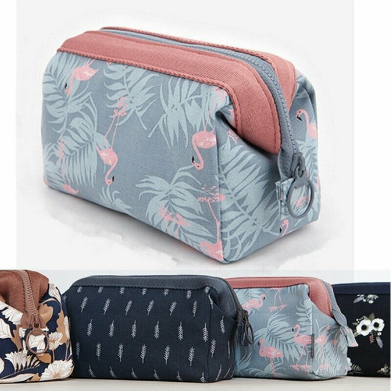 US Portable Travel Makeup Toiletry Case Pouch Flower Organizer Cosmetic Bag Hot