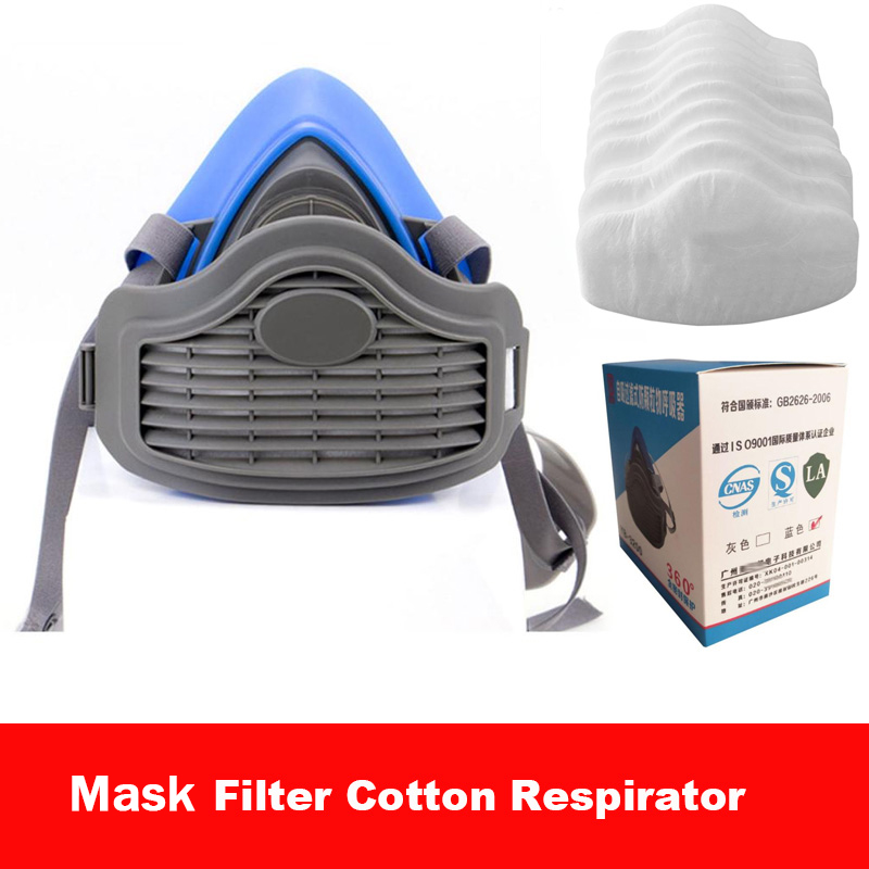 3200 Masks Filter Cotton Half Face  Mask Efficiency Filters Industrial Grade Respirator Mask For Outdoor
