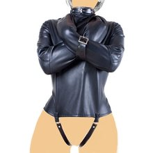 Erotic Product Sexy Lingerie for Sex Game of PU Leather Handcuffs BDSM Bondage Faux Leather(China)
