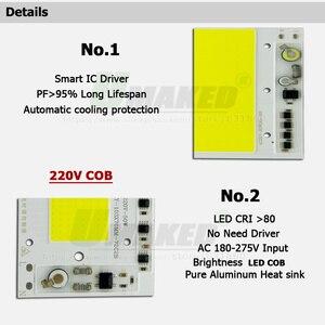 Image 2 - AC 220 12V LED COB 100 ワット 136X115MM LED PCB 投光器モジュールアルミニウム板ホワイト/ウォーム COB チップスマート IC スポットライト用のドライバをランプ