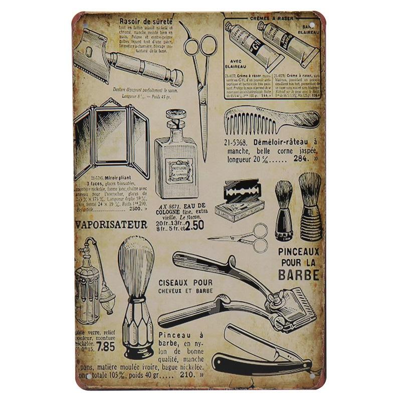Металлические жестяные винтажные Плакаты для парикмахерской