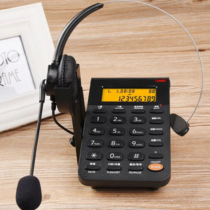 Image 2 - Corded Telephone with Headset & Dialpad, Caller ID, Computer Recording, Backlit, Adjustable Volume for House Call Center Office