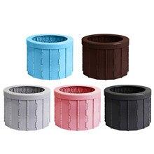 Portátil dobrável commode toalete assento para acampamento caminhadas com 12 pçs saco de limpeza muti-funcional acessórios ao ar livre à prova dwaterproof água
