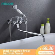 Micoe Bathtub Faucet Wall Mounted Bath Shower Faucet Bathroom Shower Faucet Set Waterfall Brass Shower Tap Shower Mixer M-A3022 bathtub faucet wall mounted brass bathtub mixer tap bathroom bath shower faucets with hand shower new arrival black shower set