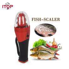 Free Shipping Electric Rechargeable Handheld Fish Scaler Kitchen Scale Tool 220V Europe Plug
